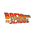 back to school logo welcome sign vector image vector image