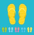 beach flip flops summer trip vacation vector image