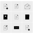 Black and white set of icons vector image