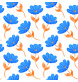 blue tulips on white background vector image vector image
