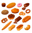bread and rolls vector image vector image