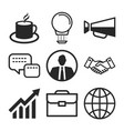 business icons flat design with elements vector image