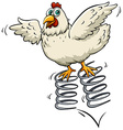 Chicken above the spring vector image vector image