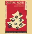 christmas movies festival conceptual poster design vector image vector image