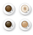 coffee in cup vector image