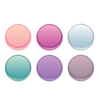 Colorful web buttons isolated on white set vector image vector image