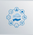computer cloud sign blue color vector image vector image