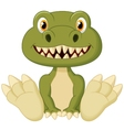 Cute baby tyrannosaurus cartoon vector image vector image