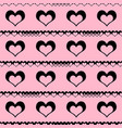 cute seamless pattern with hearts on pink vector image