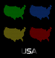Digital usa map vector | Price: 1 Credit (USD $1)