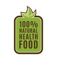 Eco food green leaf logo element vector image
