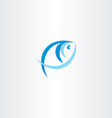 fish logo stylized icon blue design element vector image