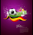 football goal vector image