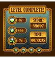 Game steampunk level complete icons vector image vector image