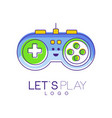 gamepad with buttons to play gaming controller vector image vector image