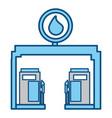 gasoline dispenser station vector image vector image