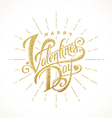 Glitter gold lettering Happy valentines day vector image vector image