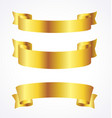 gold ribbons banner flowing scroll blank vector image