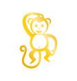 golden monkey graphic vector image vector image