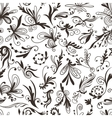 Graphic Black and White Pattern with Swirls vector image vector image