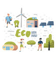 green town concept environmental conservation vector image