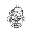 halloween zombie head cartoon vector image vector image
