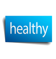 healthy blue paper sign on white background vector image vector image