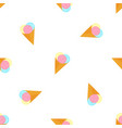 ice cream balls in a waffle cone summer seamless vector image vector image
