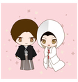 Japanese wedding dress vector image