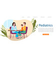 kids pediatrician doctor web banner little vector image