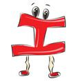 letter i alphabet emoji or color vector image vector image