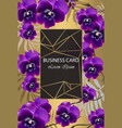 luxury card with orchid flowers beautiful vector image vector image