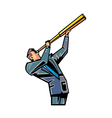 man holding telescope vector image vector image