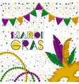 mardi gras colorful background with triangular vector image vector image