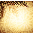Mayan Petroglyph vector image vector image