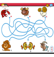 maze puzzle activity for kids vector image vector image