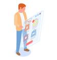 mobile shopping flat concept man vector image