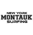 montauk surfing urban apparel modern design vector image vector image