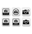 no photos cameras flash buttons vector image vector image