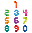 Numbers Set Origami Style vector image vector image