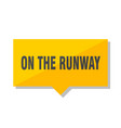 on the runway price tag vector image vector image