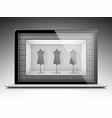 online shop on modern laptop vector image vector image