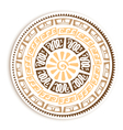 Petroglyph Round Emblem vector image vector image