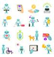 robot advisor of finance housework medicine vector image