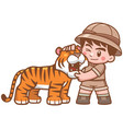 safari boy vector image