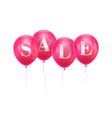 sale pink balloon vector image