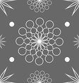 Seamless abstract stars on dark grey vector image vector image