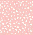 seamless pattern geometric triangle shapes hand vector image vector image
