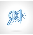 Search ads icon blue line style vector image vector image