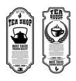 set tea house flyer templates design element vector image vector image